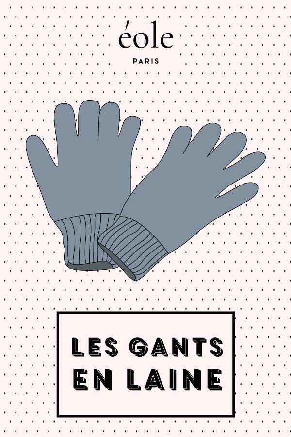 Les gants en laine - EOLE PARIS