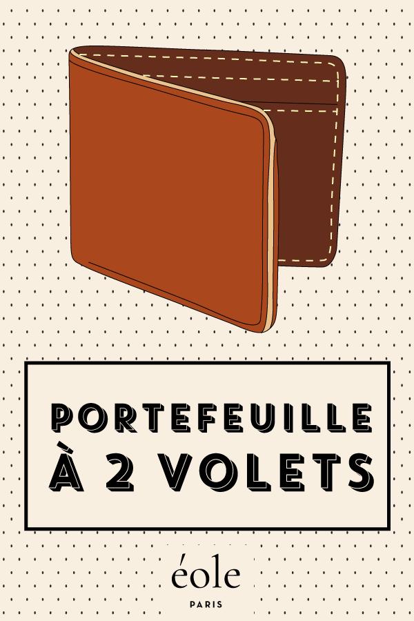 Portefeuille à deux volets - EOLE PARIS