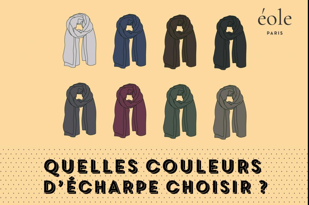 Quelles couleurs d'écharpes choisir ? EOLE PARIS