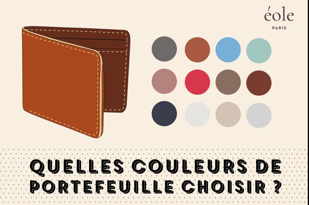 Quelles couleurs de portefeuilles choisir - EOLE PARIS