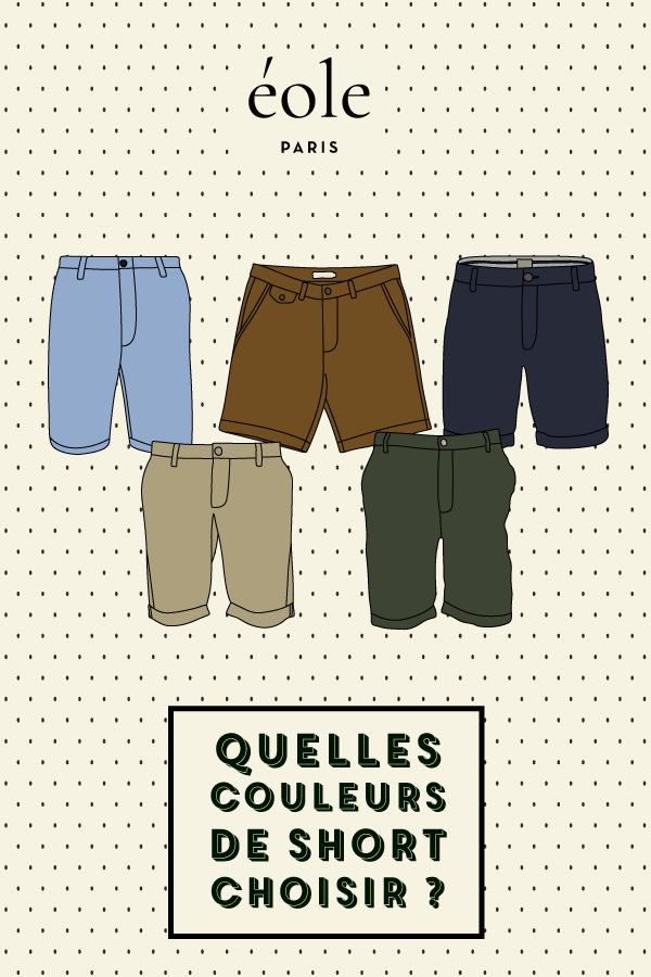 Quelles couleurs choisir pour votre short ? EOLE PARIS