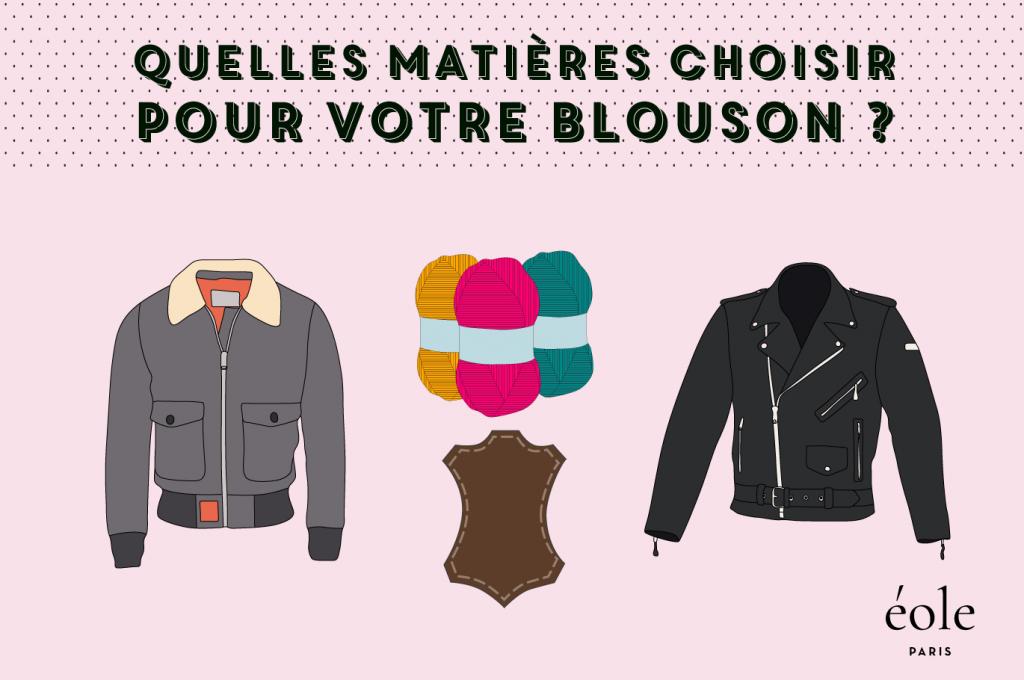 Quelles matières choisir pour votre blouson ? EOLE PARIS