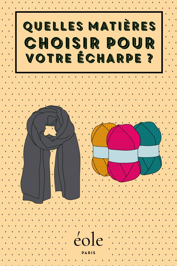 Quelles matières porter pour votre écharpes ? EOLE PARIS