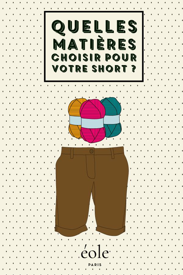 Quelles matières choisir pour votre short ? ÉOLE PARIS