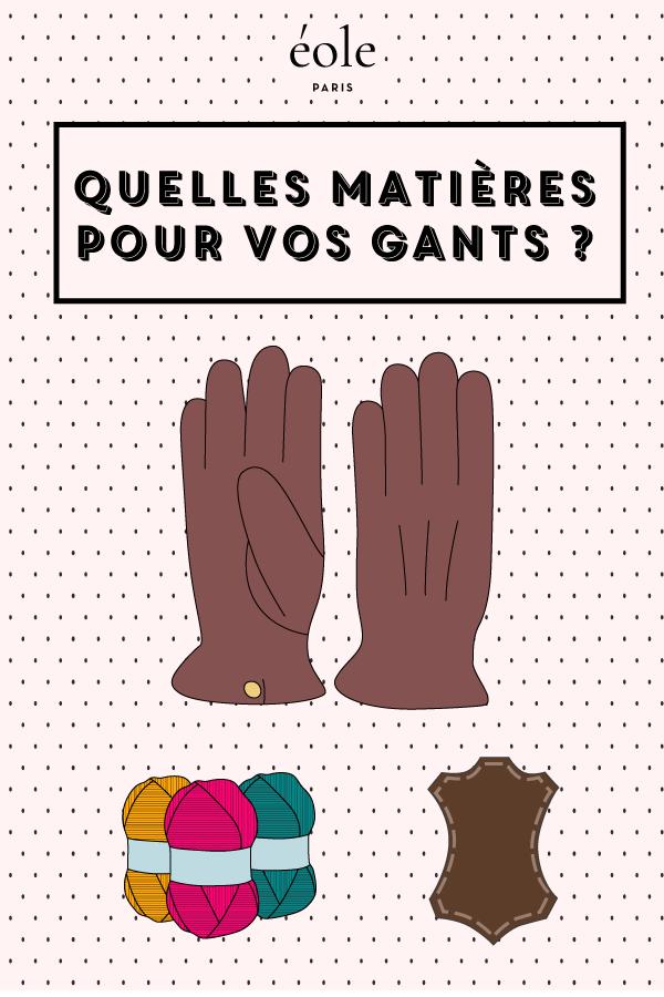 Quelles matières pour vos gants ? EOLE PARIS