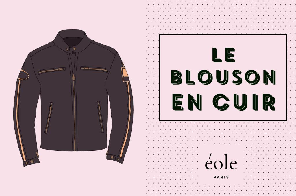 Le blouson en cuir - EOLE PARIS