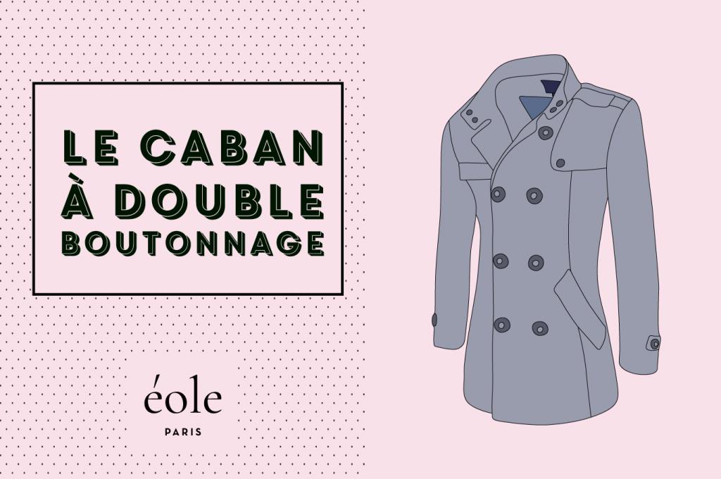 Le Caban à double boutonnade - EOLE PARIS