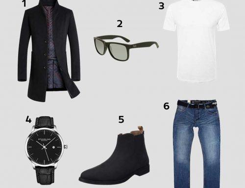Look Casual Chic | Mi-Saison | Manteau De Laine Long, Bottes Chelsea Pepe Jeans, Lunettes Ray-Ban…