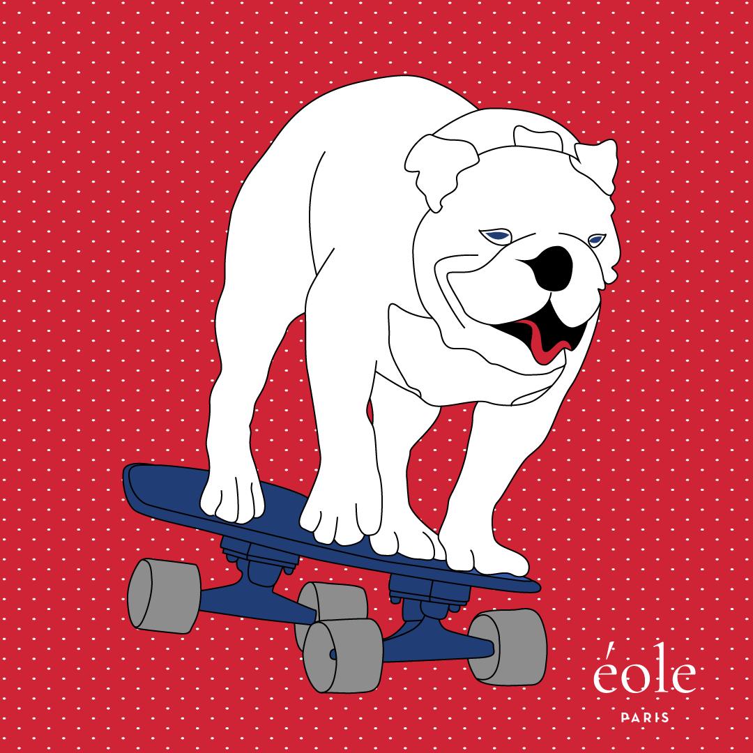 Dog Skate Red