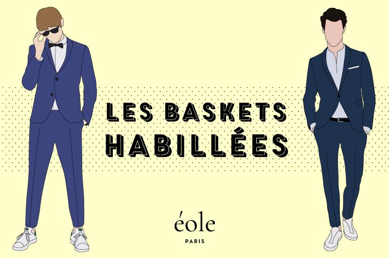 Costume + Basket, le nouveau casual chic ? – Mode masculine